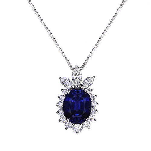 cut grande sapphire befa emerald pendant necklace leone bs blue saphire