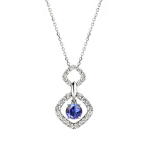 Tanzanite Drop Necklace