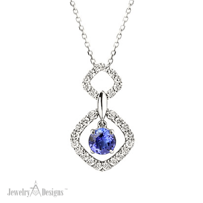 NP151-1 Tanzanite Drop Necklace