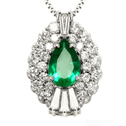 Pear Shape Emerald Necklace Jewelry Designs