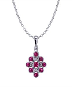 Ribbon Ruby Necklace