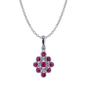 Ribbon Ruby Necklace