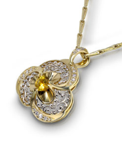 Yellow Sapphire Filigree Necklace