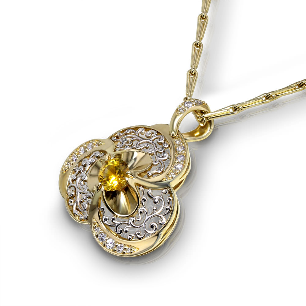 filigree jewelry pendant sapphire h product necklace yellow designs