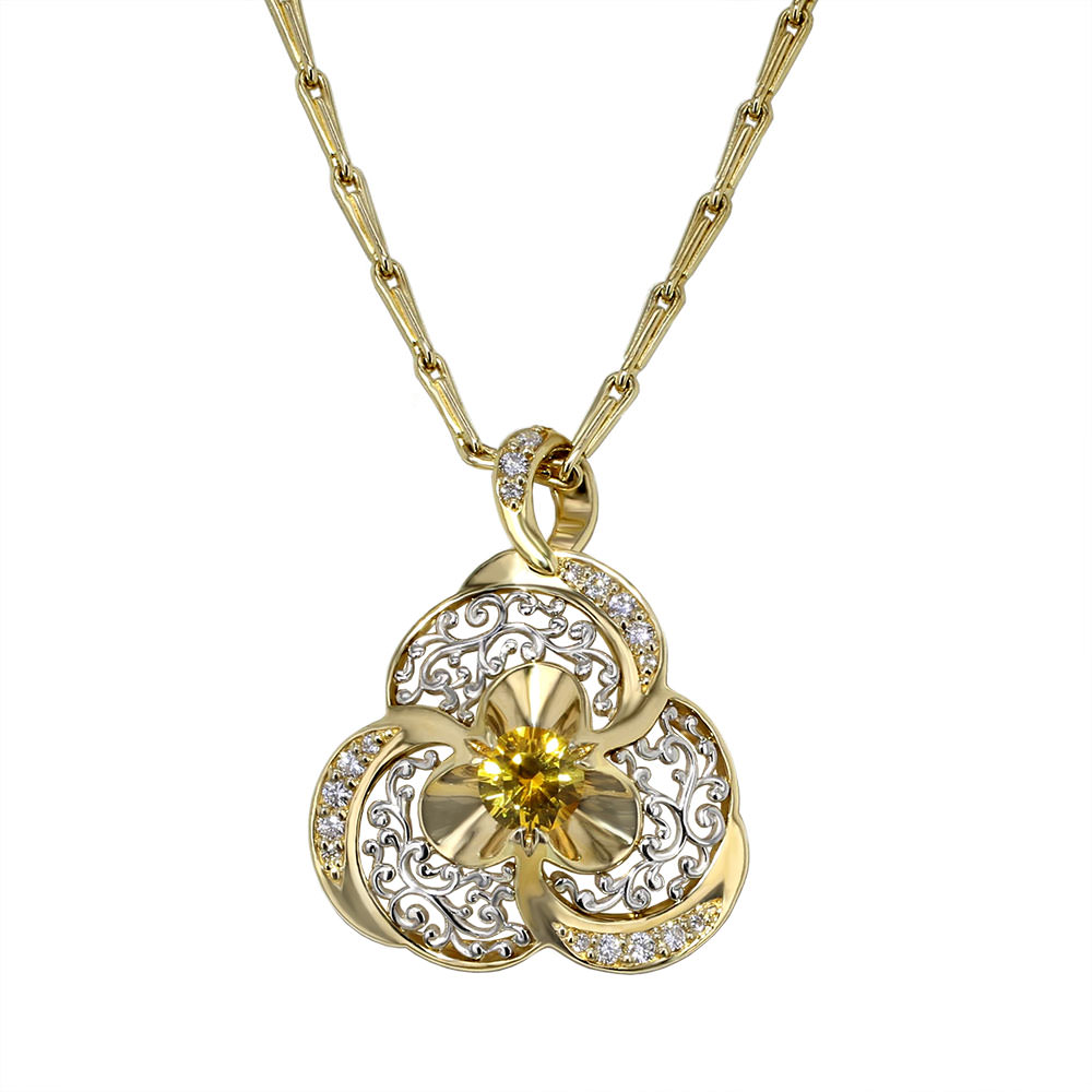 yellow sapphire necklace - photo #22