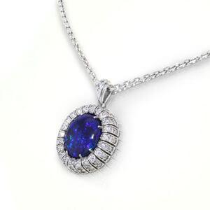 Black Opal Diamond Necklace