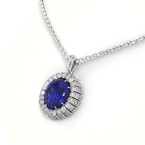 Black Opal Diamond Necklace