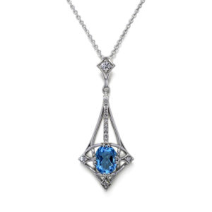 Designer Blue Topaz Necklace