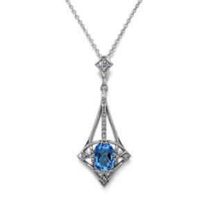 Designer Blue Topaz Necklace