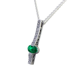 Filigree Emerald Necklace