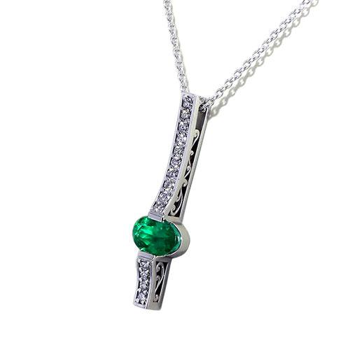Filigree Emerald Necklace