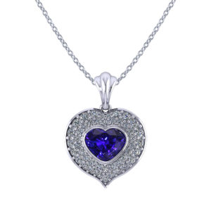 Heart Shaped Sapphire Necklace