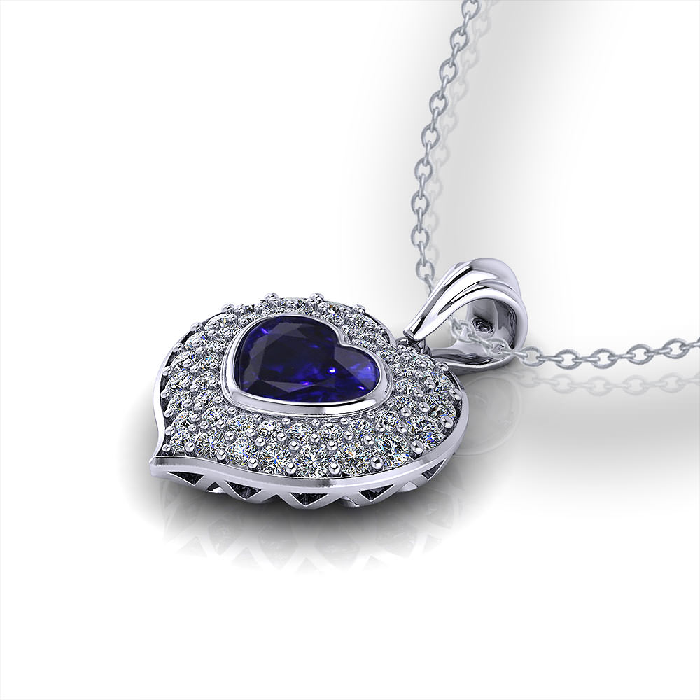 Heart Shaped Sapphire Necklace Jewelry Designs