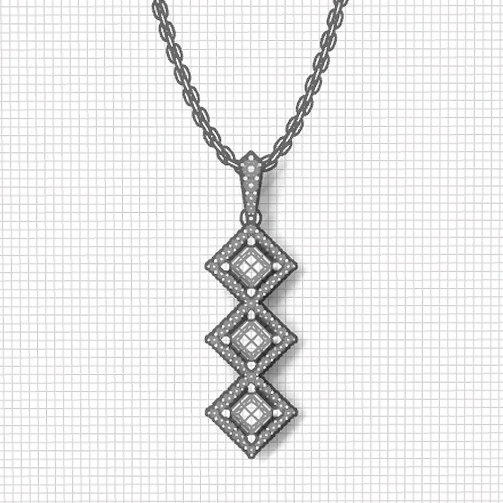 3 stone ruby diamond necklace jewelry designs