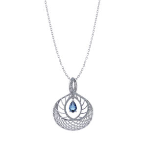 Steel Blue Sapphire Necklace