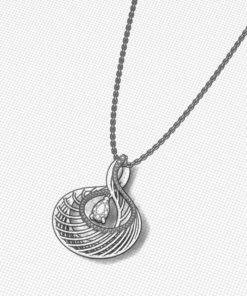 Steel Blue Sapphire Necklace