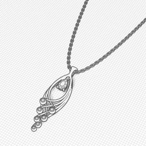 Jingle Sapphire Pendant