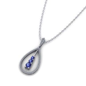 Shimmering Sapphire Pendant