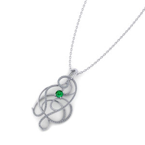 Artistic Emerald Necklace