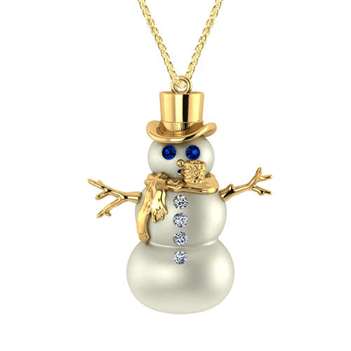 Snowman Necklace