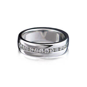 Diamond Channel Wedding Ring