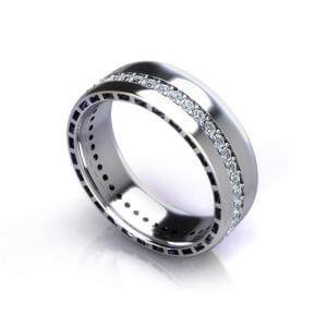 Men's Eternity Wedding Ring angle