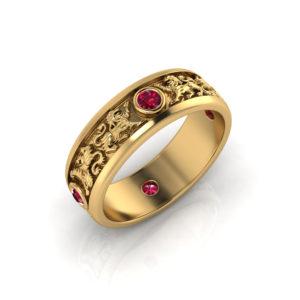 Lion Wedding Ring