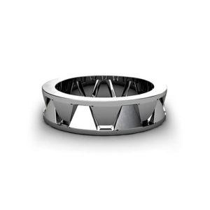 Geometric Men's Wedding Ring