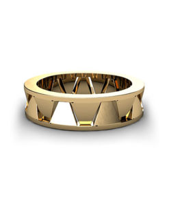 Geometric Men's Wedding Ring