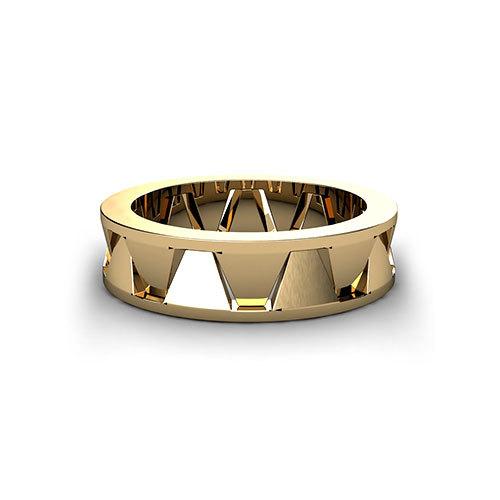Geometric men39s wedding ring jewelry designs for Geometric wedding ring