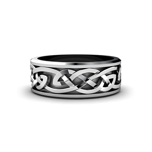 Celtic Weave Wedding Ring