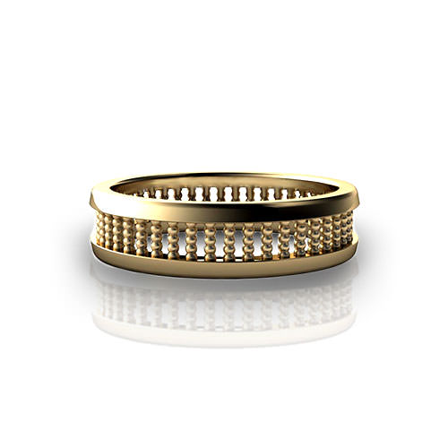 Stacked Bead Wedding Ring