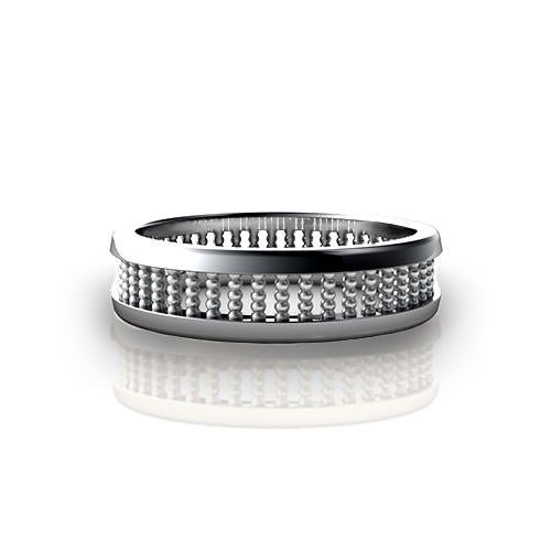 Stacked Bead Wedding Ring