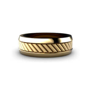 Corduroy Men's Wedding Ring