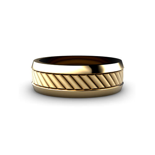 Corduroy Men's Wedding Ring