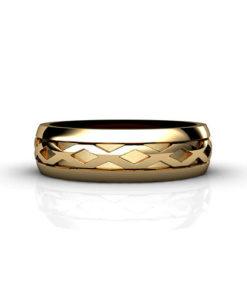 Men's X Pattern Wedding Ring