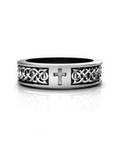 Celtic Cross Wedding Ring