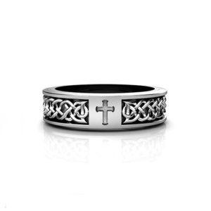 Celtic Cross Wedding Ring