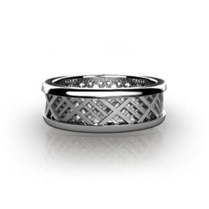 Plaid Wedding Ring