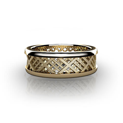 Plaid Wedding Ring