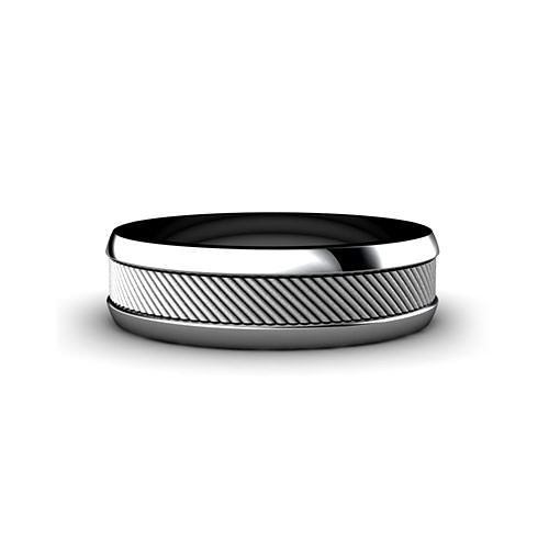 Grooved Pattern Wedding Ring