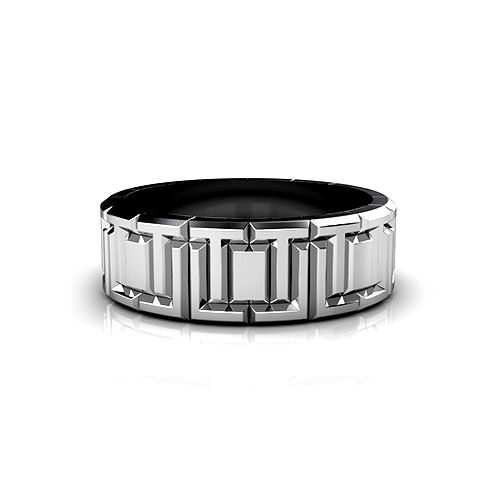 Interlocking Square Wedding Ring