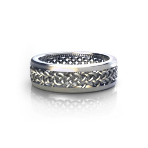 Mesh Mens Wedding Ring