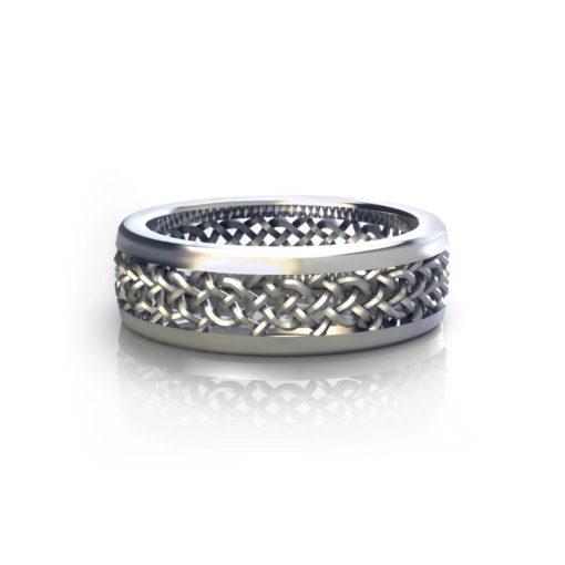 Mesh Mens Wedding Ring