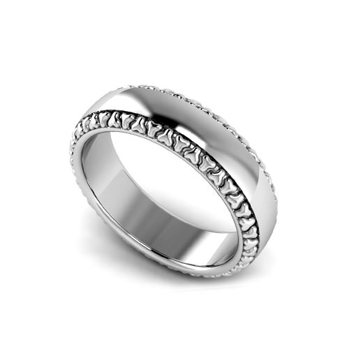 Trio Edged Wedding Ring