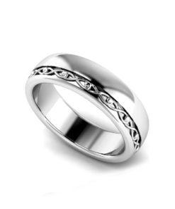 Offset Men's Wedding Ring