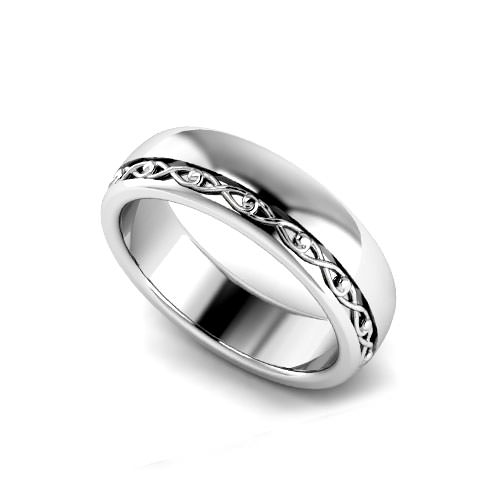Offset Men's Wedding Ring