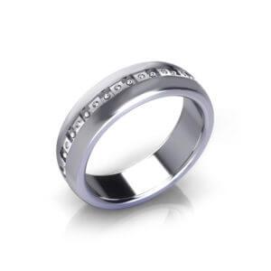 Dot Men's Wedding Ring