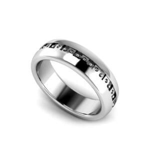 Men's Geo Wedding Ring