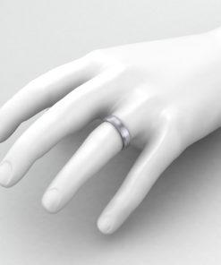 Beveled Men's Wedding Ring